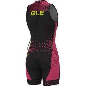 Alé Cycling Triathlon Rush Lympc Traje Triatlón sin mangas Mujer, black flou pink